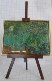 SCH 004 schildersezeltje 22 cm hoog, Vincent van Gogh irissen