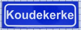 koelkastmagneet plaaatsnaambord Koudekerke P_ZE9.2001
