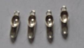 bedel klompje zwaar verzilverd, 4 stuks