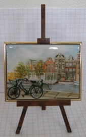 SCH 037 schildersezeltje 22 cm met schilderijtje Amsterdam