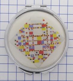 SPI 013 spiegeldoosje boogie woogie Mondriaan