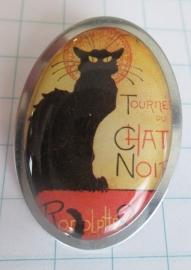 broche affiche zwarte kat Steinlen