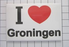 koelkastmagneet I ♥ Groningen N_GR1.001