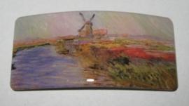 HAR 006Haarspeld rechthoek molen Claude Monet geplaatst