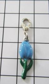 CLI 012 clip tulpje emaille blauw