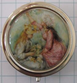pil 119 pillendoosje met spiegel 2 meisjes Auguste Renoir
