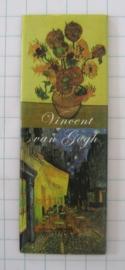 Vincent Van Gogh Panoramakoelkastmagneet combi met Zonnebloemen en cafe  MAC 21.401