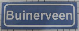 Koelkastmagneet plaatsnaambord Buinerveen