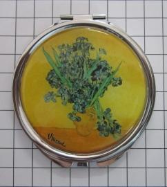 SPI 206 Spiegeldoosje Vaas Irissen, Vincent van Gogh