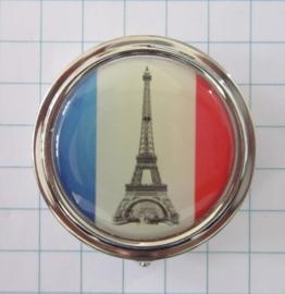 pillendoosje eiffeltoren in Franse vlag pil 103