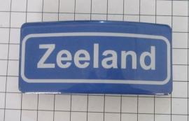 Haarspeld rechthoek plaatsnaambord Zeeland HAR601