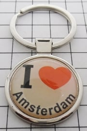 SLE001 Sleutelhanger I love Amsterdam