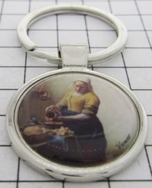 SLE301 Sleutelhanger Melkmeisje Johannes Vermeer