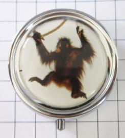 PIL 403 pillendoosje met spiegeltje aap