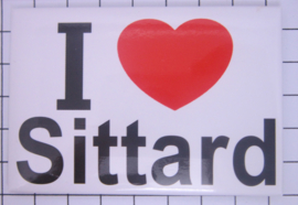 koelkastmagneet I ♥ Sittard N_LI4.001