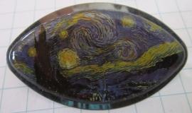 HAK 202 kleine haarspeld sterrennacht Vincent van Gogh met rand