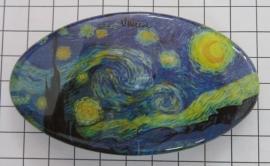 Haarspeld 8 cm ovaal HAO 409 sterrennacht Vincent van gogh