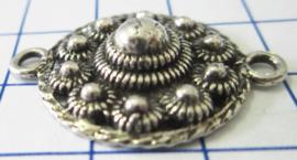 zeeuwse knop plat met rand ruim 2 cm doorsnede tweeoog ZB024