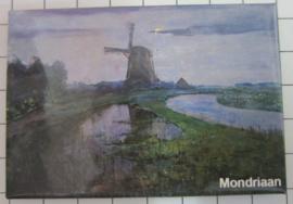 MAC:20.263 koelkastmagneet molen Piet Mondriaan