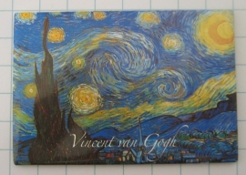 MAC: 20.407 Koelkastmagneet sterrennacht Vincent van Gogh donker