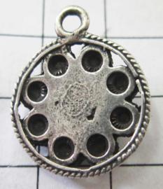 zeeuwse platte knoop met rand, 9 bolletjes eenoog ZB017