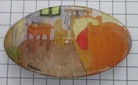 Haarspeld 8 cm ovaal HAO 405 kamer Vincent van Gogh