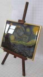 SCH 009 schildersezeltje 22 cm hoog, Vincent van Gogh sterrennacht