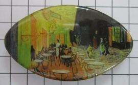 Haarspeld ovaal Klein cafe Vincent van Gogh HAK404