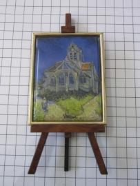 SCH 042 schildersezeltje 16 cm hoog Vincent van Gogh kerkje