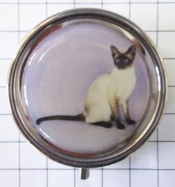pil 339 pillendoosje met spiegel siamese kat