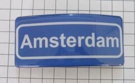 Haarspeld rechthoek plaatsnaambord Amsterdam HAR319