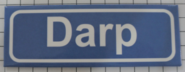 Koelkastmagneet plaatsnaambord Darp