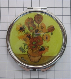 SPI 203 Spiegeldoosje Zonnebloemen,  Vincent van Gogh