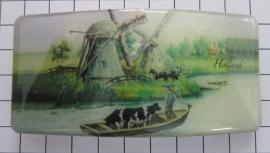 Haarspeld rechthoek HAR303 molens en koe in boot