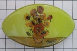 Haarspeld ovaal Klein 6 cm zonnebloemen Vincent van Gogh HAK401