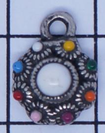 ZB002-MC zeeuws knoopje hangertje met regenboogkleuren emaille