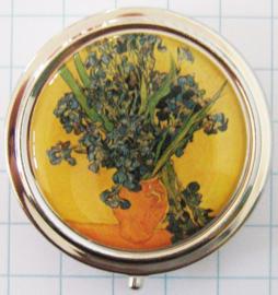 PIL402 pillendoosje met spiegel vaas irissen