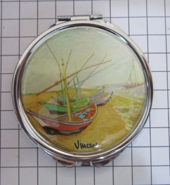 SPI 215 spiegeldoosje boten Vincent van Gogh