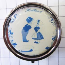 PIL500 pillendoosje met spiegel delftsblauw paartje