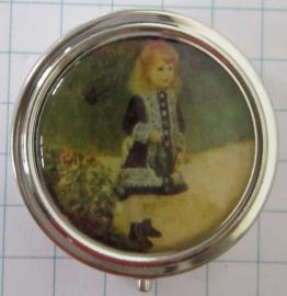 PIL 131 pillendoosje met spiegel meisje met de gieter Renoir