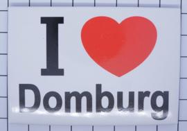 koelkastmagneet I love Domburg N_ZE7.401