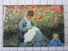 MAC: 20.453 Koelkast magneet Claude Monet