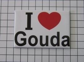 koelkastmagneet I ♥ Gouda MAC:22.101
