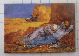 MAC: 20.415 Koelkastmagneet Vincent van Gogh hooiberg