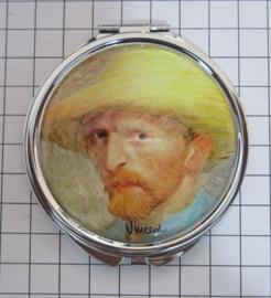 SPI 213 spiegeldoosje zelfportret hoed Vincent van Gogh