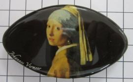 Haarspeld ovaal Klein meisje parel Johannes Vermeer HAK410