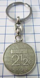 MSLE013 sleutelhanger rijksdaalder zwaar verzilverd, jaartal 1996