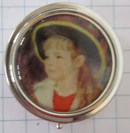 PIL 128 pillendoosje met spiegel jongetje Renoir
