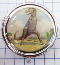 PIL 355 pillendoosje met spiegel tyrannosauraus