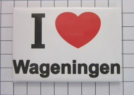 koelkastmagneet I ♥ Wageningen N_GE3.001